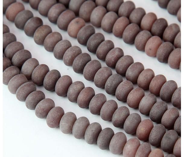 Purple Aventurine Beads, Natural, 5x8mm Smooth Rondelle