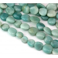 Amazonite Beads, Medium Oval Nugget