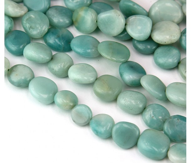 Amazonite Beads, Natural, Medium Oval Nugget