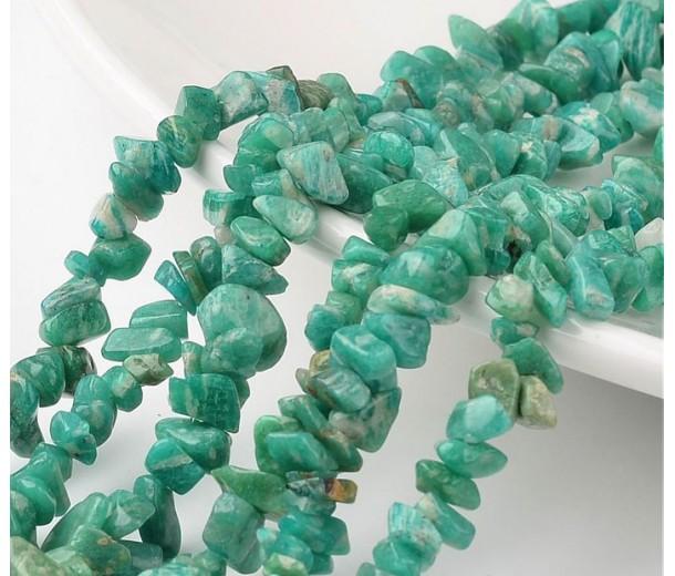 Russian Amazonite Beads, Medium Chip