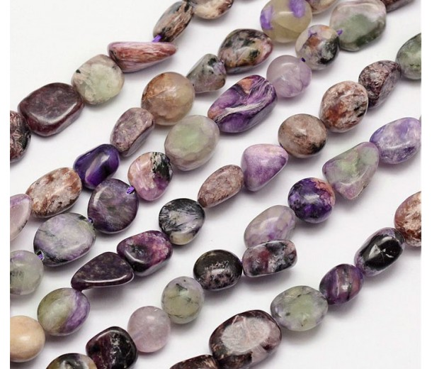 Charoite Beads, Natural, Medium Nugget