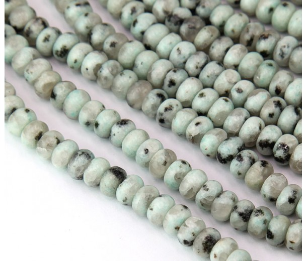 Sesame Jasper Beads, 5x8mm Smooth Rondelle