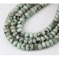 Sesame Jasper Beads, Natural, 5x8mm Smooth Rondelle