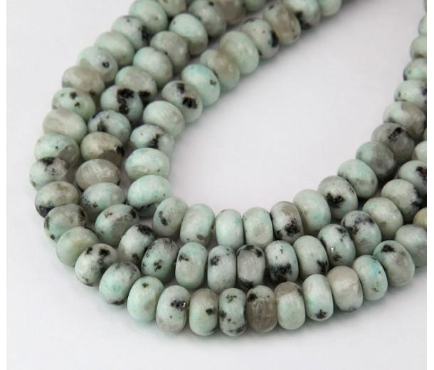 Sesame Jasper Beads, Natural, 5x8mm Smooth Rondelle