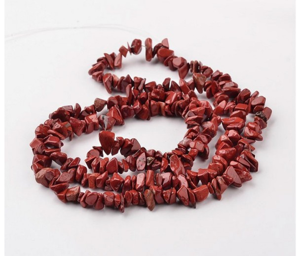 Red Jasper Beads, Medium Chip
