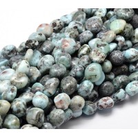Larimar Beads, Teal, Medium Nugget