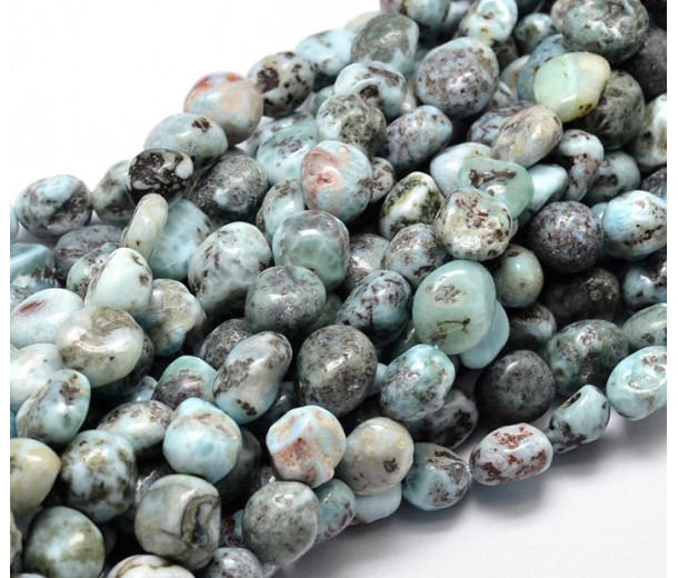 Larimar Beads, Natural, Teal, Medium Nugget