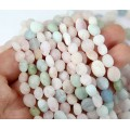 Morganite Beads, Matte, Small Nugget