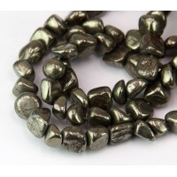 Pyrite Beads, Large Tumbled Nugget