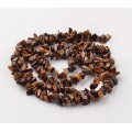 Tiger Eye Beads, Natural, Medium Chip