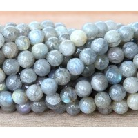 Labradorite Beads, Light Grey, 8mm Round
