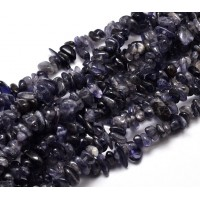 Iolite Beads, Medium Chip