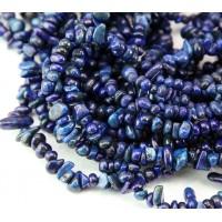 Lapis Lazuli Beads, Small Tumbled Chip