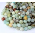 Amazonite Beads, Natural Multicolor, 7-8mm Faceted Nugget