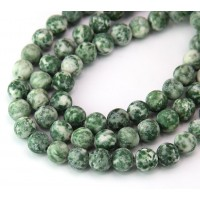 Matte Tree Agate Beads, 8mm Round