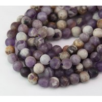 Matte Sage Amethyst Beads, Natural, 6mm Round