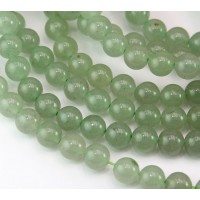 Green Aventurine Beads, 8mm Round