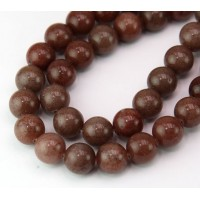 Brown Aventurine Beads, 8mm Round