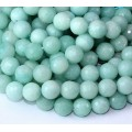 Amazonite Beads, Natural Light Teal, 10mm Faceted Round
