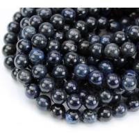 Dumortierite Beads, Dark Blue, 8mm Round