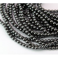 Hematite Beads, Non-Magnetic, 4mm Round