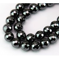 Hematite Beads, Non-Magnetic, 10mm Faceted Round