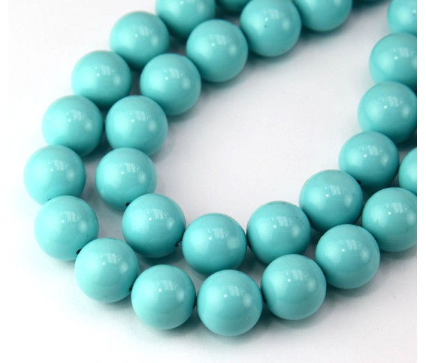 Imitation Turquoise Beads, Light Blue, 10mm Round