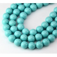 Imitation Turquoise Beads, Light Blue, 8mm Round