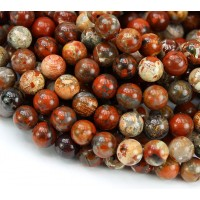 Brecciated Jasper Beads, 8mm Round