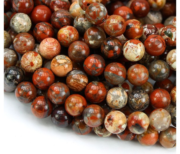 Brecciated Jasper Beads, Natural, 10mm Round