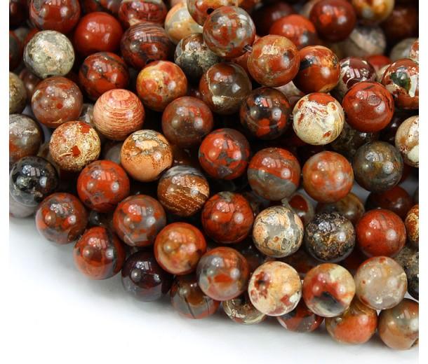 Brecciated Jasper Beads, 8mm Round