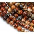Brecciated Jasper Beads, Natural, 8mm Round