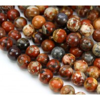 Brecciated Jasper Beads, Natural, 6mm Round