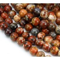 Brecciated Jasper Beads, Natural, 6mm Round