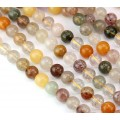 Mixed Quartz Beads, 8mm Round