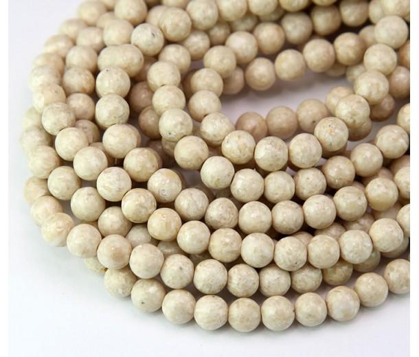 River Stone Jasper Beads, Natural, 6mm Round