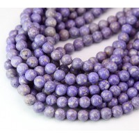 River Stone Jasper Beads, Lavender Purple, 6mm Round