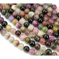 Tourmaline Beads, Multicolor, 6mm Round