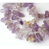 Ametrine Stick Beads, Natural Light Purple, 12-20mm