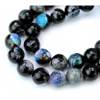 Agate Beads, Peacock Mix, 10mm Faceted Round
