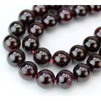 Garnet Beads, 10mm Round