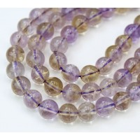 Ametrine Beads, Light Purple, 8mm Round