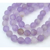 Matte Ametrine Beads, Light Purple, 8mm Round