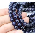 Goldstone Beads, Blue, 8mm Round