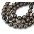 Coffee Jasper Beads, Natural Dark Brown, 10mm Round