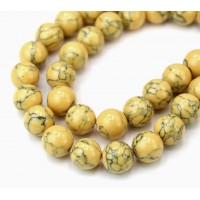 Magnesite Beads, Honey Yellow, 10mm Round