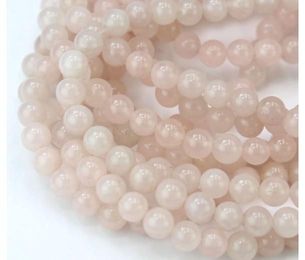 Rose Quartz Beads, Natural, 6mm Round