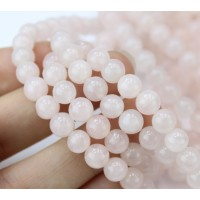 Rose Quartz Beads, Natural, 6mm Round