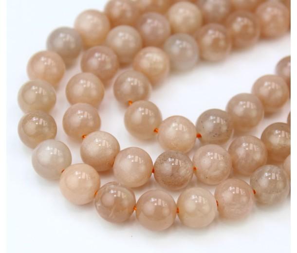 Sunstone Beads, 8mm Round, Half Strand