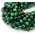 Tiger Eye Beads, Green, 6mm Round